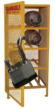 Propane Cage with broken off lock